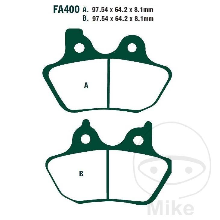 BRAKE PADS SINTERED HH EBC FA400HH ALTN 7874530/7875332 - 732.09.97
