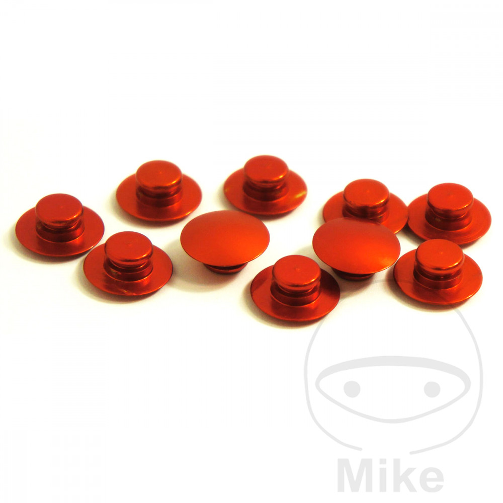 ALLEN BOLT CAP KIT JMP M10 ALUMINIUM ORANGE - 775.80.02