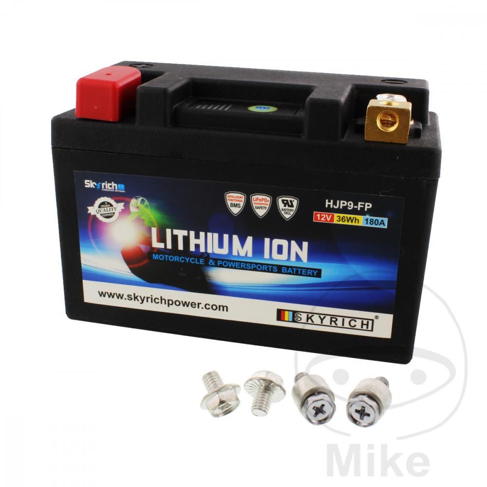 batterie moto ltm9 skyrich lithium ion avec protection d 39 affichage et de surcharge motomike. Black Bedroom Furniture Sets. Home Design Ideas