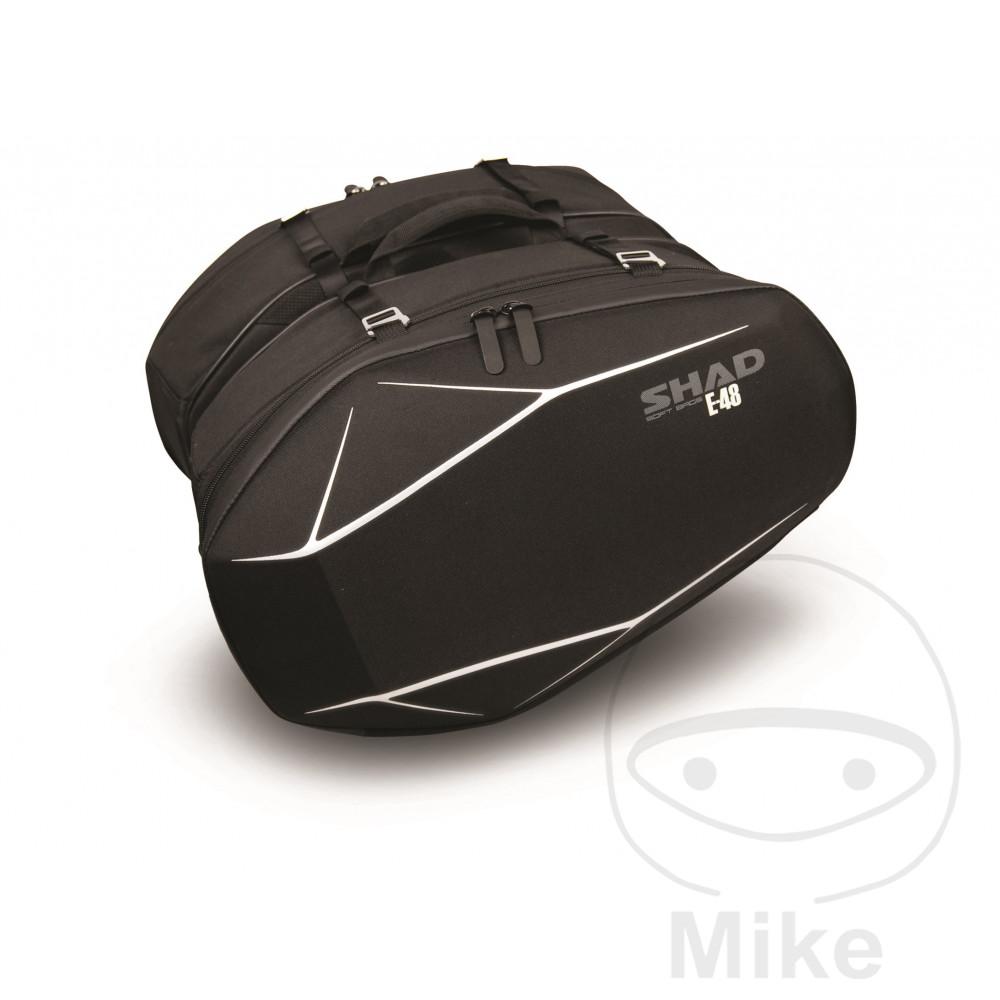 PANNIER BLACK 2X20L SHAD CONT 2 PCS E-48 - 711.04.08