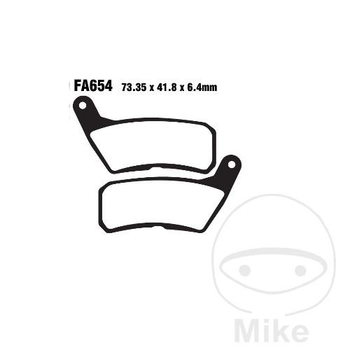 BRAKE PADS STD EBC FA654 - 737.01.80