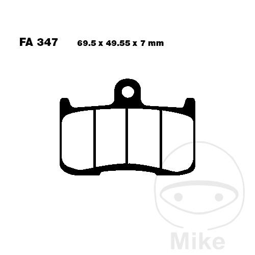 BRAKE PADS SINTERED GPFAX EBC GPFAX347HH FA115TT ALTN 7874993/7874456 - 732.00.06