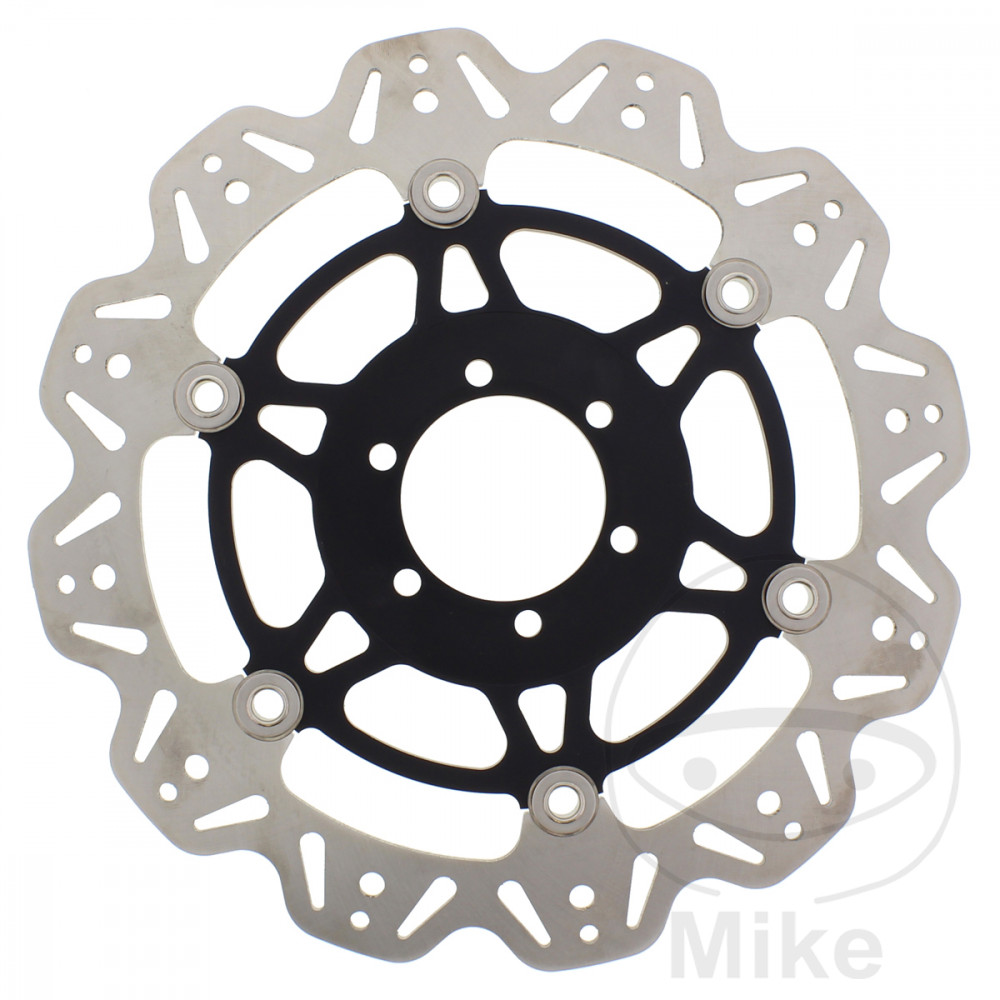 BRAKE DISC VEE FRONT EBC VEE ROTOR BLACK - 760.58.14