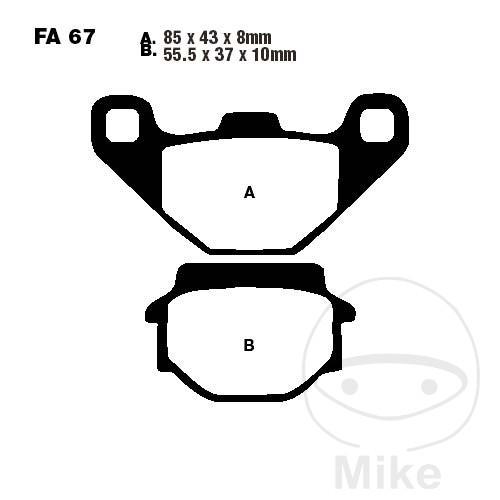 BRAKE PADS SINTERED HH EBC FA067HH - 732.89.17