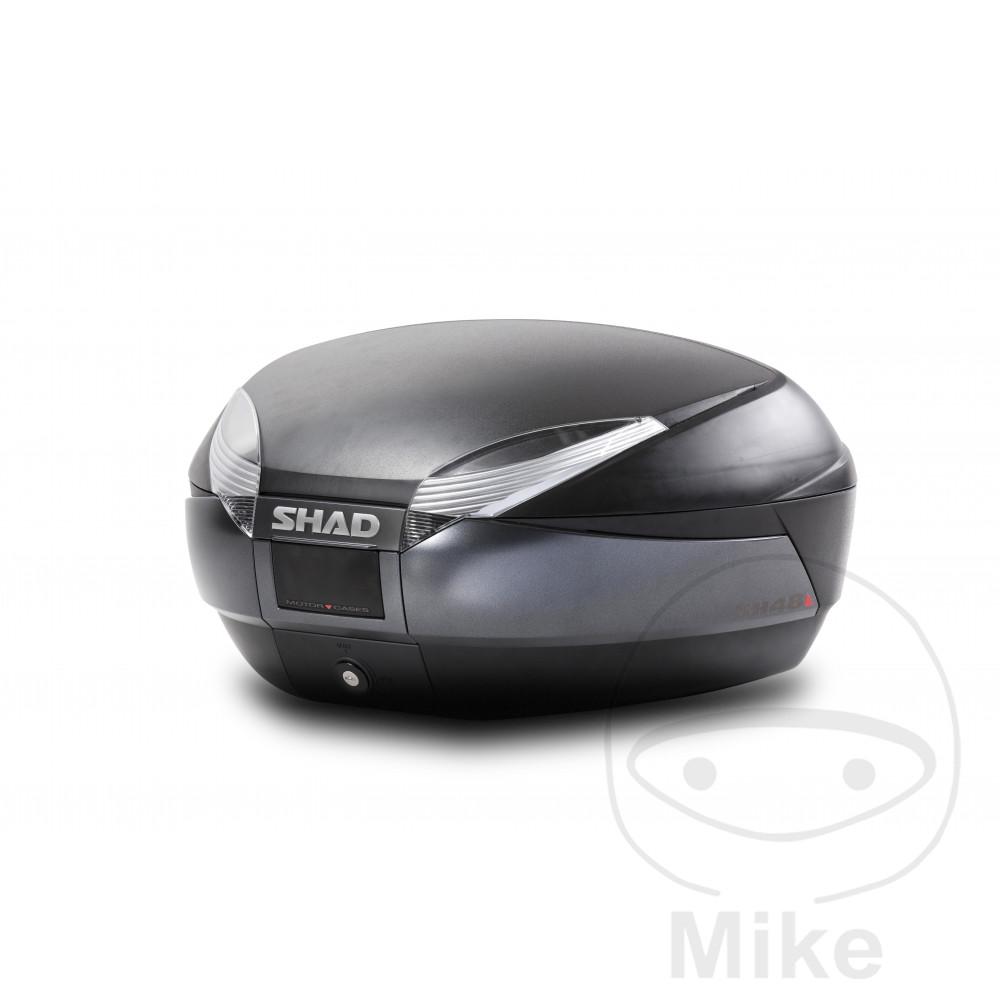 SHAD TOPBOX 48L SH48 BLACK C/W MOUNTING PLATE - 711.05.24