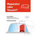 Poster Glas-Reparatur/SICHTFELD 2 ER Packung Inklusive Rolle
