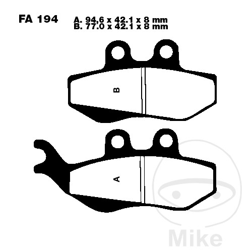 BRAKE PADS CARBON SCOOTER EBC SFAC194 - 732.05.24