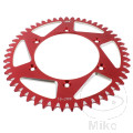 REAR SPROCKET ALU 51TOOTH PITCH 520 RED JMP INNER DIAMETER 136 BOLT SPACING 156