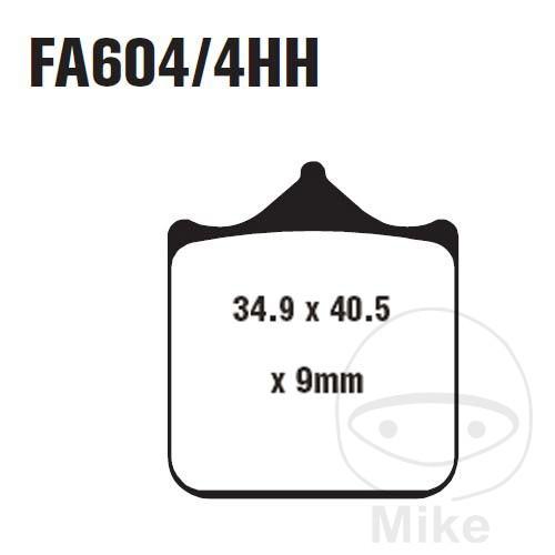 BRAKE PADS SINTERED HH EBC FA604/4HH ALTN 7870223 - 732.32.98