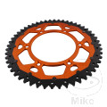 REAR SPROCKET DUAL 52 TOOTH PITCH 520 ORANGE ZF INNER DIAMETER 125 BOLT SPACING 150