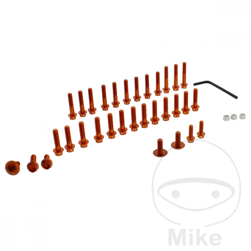 PROBOLT ENGINE BOLT SET ALUMINIUM ORANGE - 775.87.43