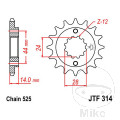 FRONT SPROCKET 16 TOOTH  525 NARROW SPLINE 24/28.7