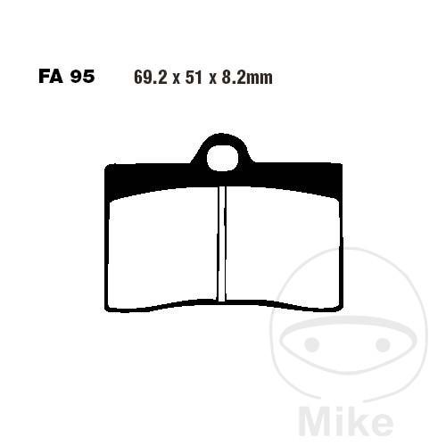 BRAKE PADS SEMI-SINT V EBC FA095V - 737.70.25