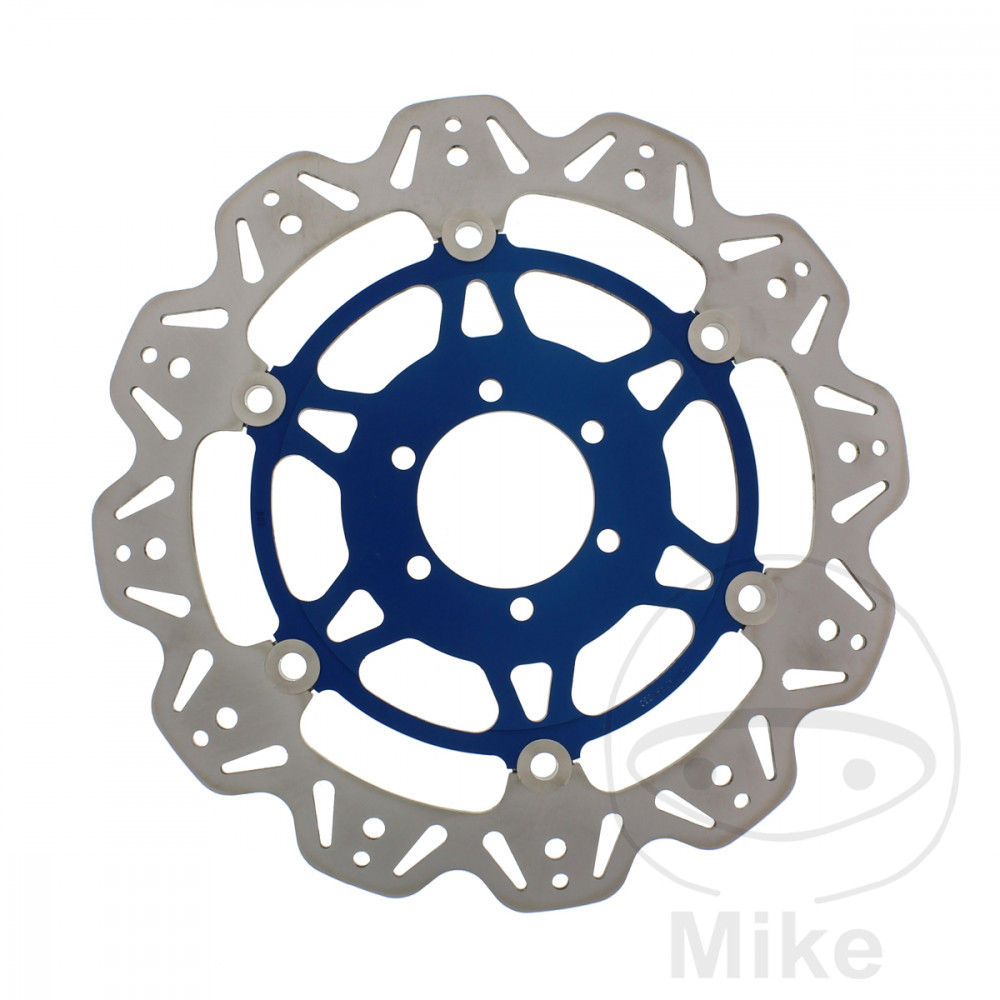 BRAKE DISC FRONT EBC VEE ROTOR BLUE - 760.60.86