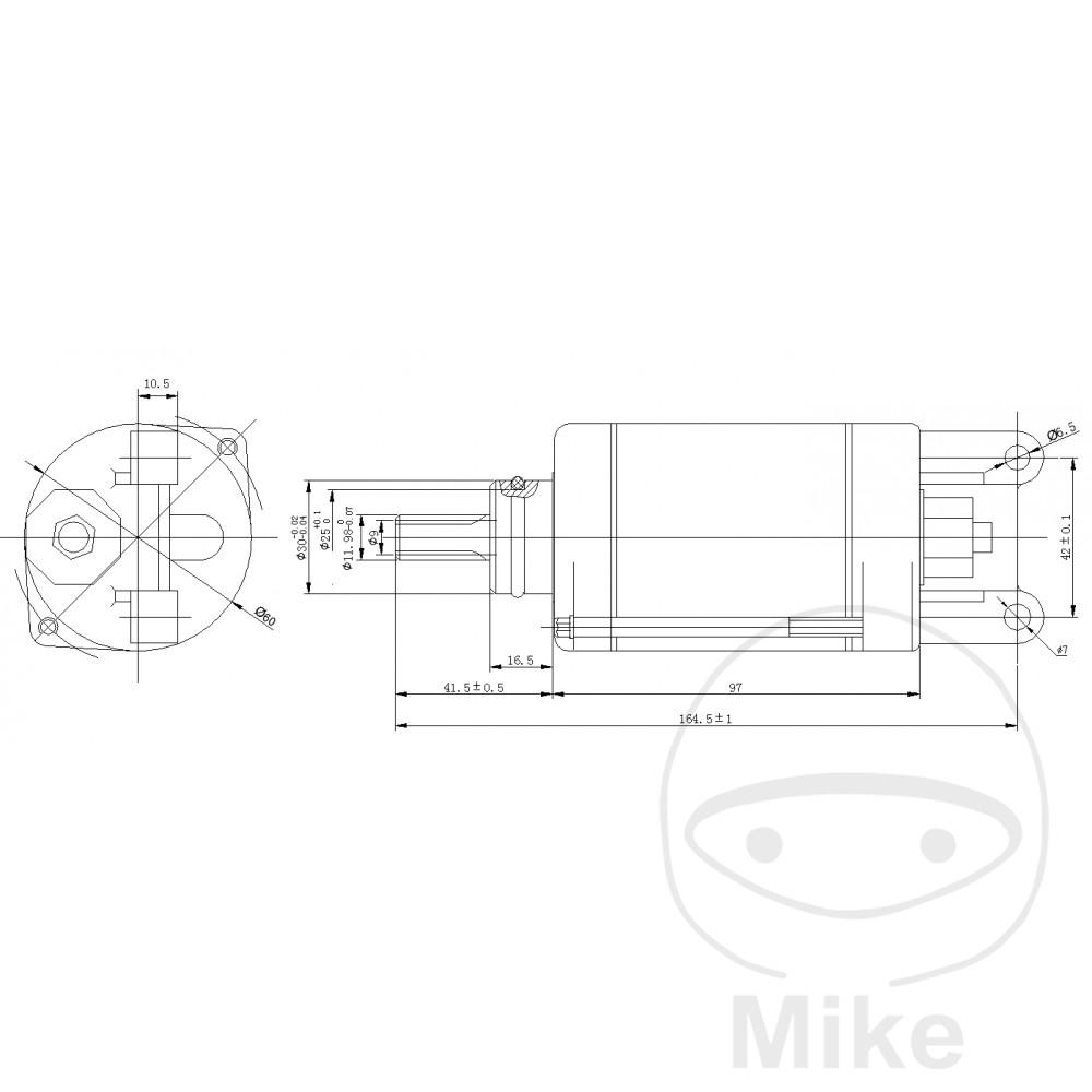 STARTER MOTOR JMT - 700.10.66