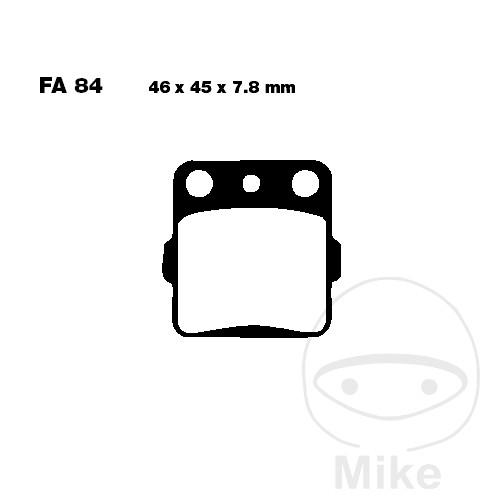 BRAKE PADS SINTERED MX-S EBC MXS084 RACING MX - 732.43.95