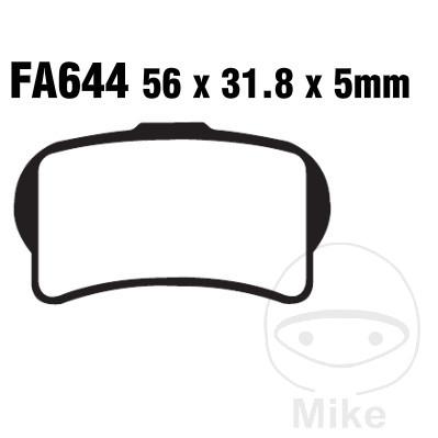 BRAKE PADS STD EBC FA644TT - 732.00.43