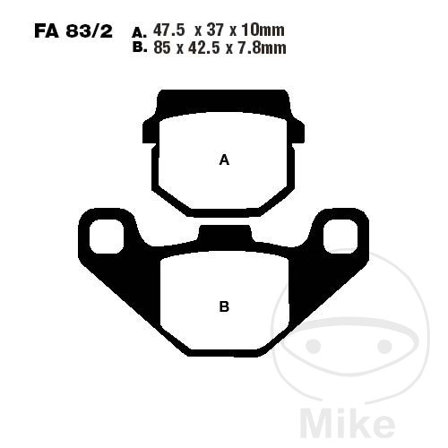BRAKE PADS SCOOTER EBC SFA083/2 - 732.01.12