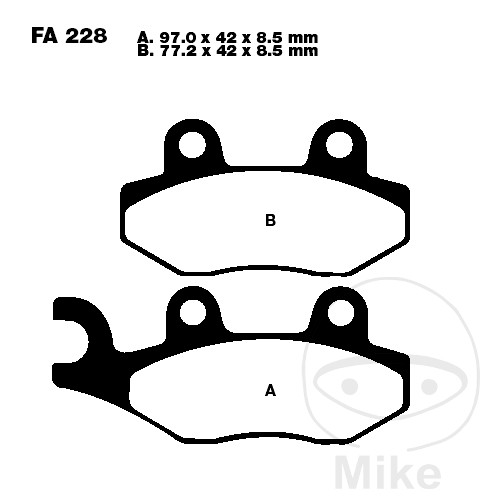 BRAKE PADS CARBON SCOOTER EBC SFAC228 - 732.05.29