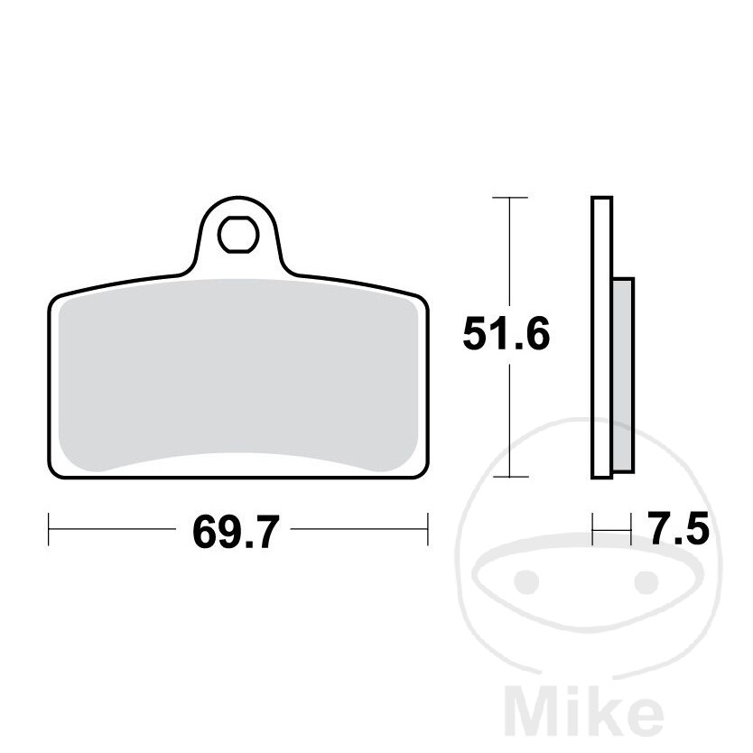 BRAKE PADS SINTERED TRW LUCAS HIGH METAL COMPOUND - 787.44.64
