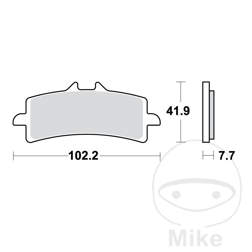 BRAKE PAD SINTER CARBON SCR TRW ALTN 7321599 - 787.00.34