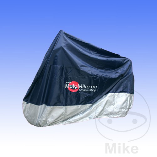JMP BIKE COVER 1000cc+ BLUE/SILVER WITH MOTO MIKE LOGO - 711.55.00