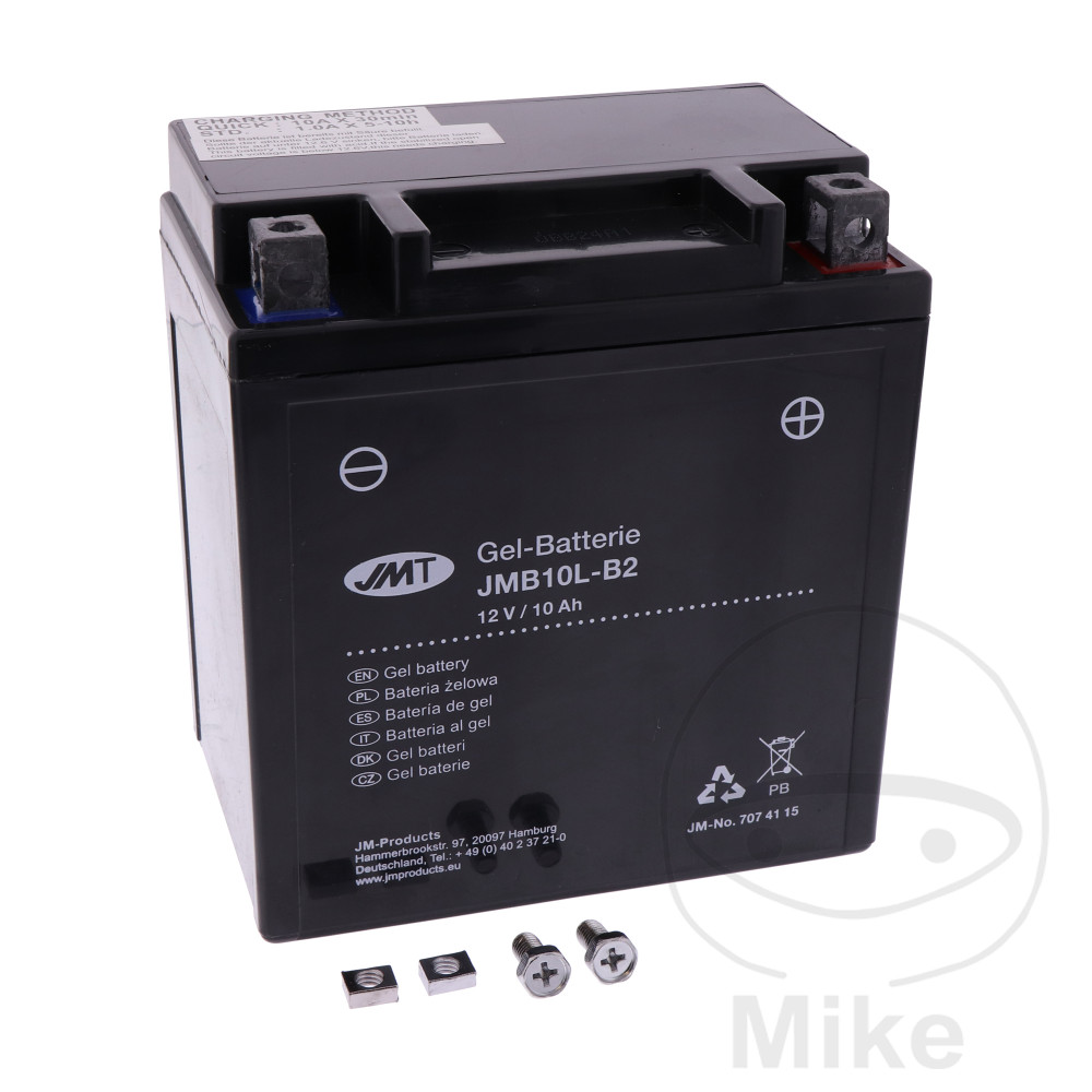 battery motorcycle yb10l b2 gel jmt filled charged. Black Bedroom Furniture Sets. Home Design Ideas