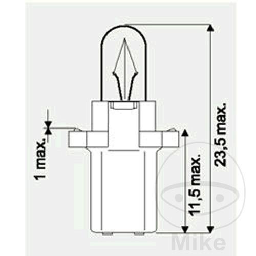BULB 12V1.2W JMP B8.3D 10 PCS - 705.01.76