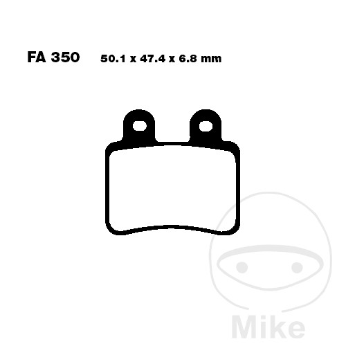 BRAKE PADS SCOOTER EBC SFA350 ALTN 7872740 - 732.08.15