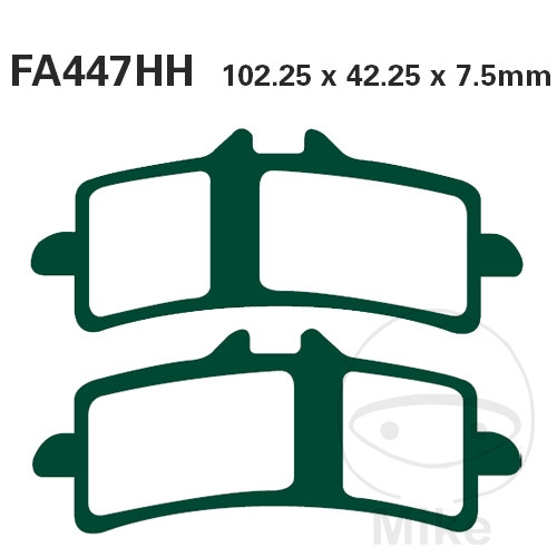 BRAKE PADS SINTERED GPFAX EBC GPFAX447HH ALTN 7875024/7875032 - 732.00.12