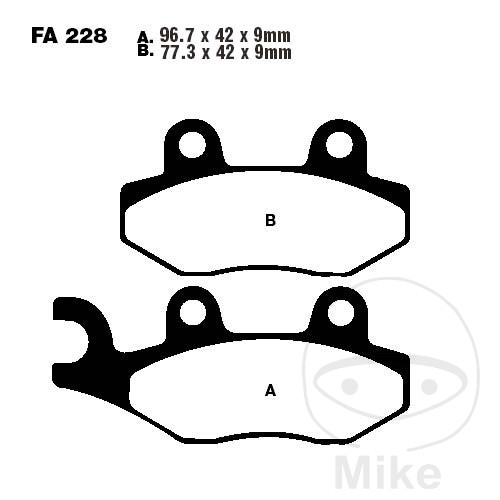 BRAKE PADS SCOOTER EBC SFA228 ALTN 7872385 - 732.02.45