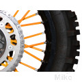 SPOKE COVER SET ORANGE BLACK BIRD RACING