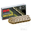 RK X-RING CHAIN GOLD/BLACK 525XSO 108L OPEN CHAIN WITH RIVET LINK