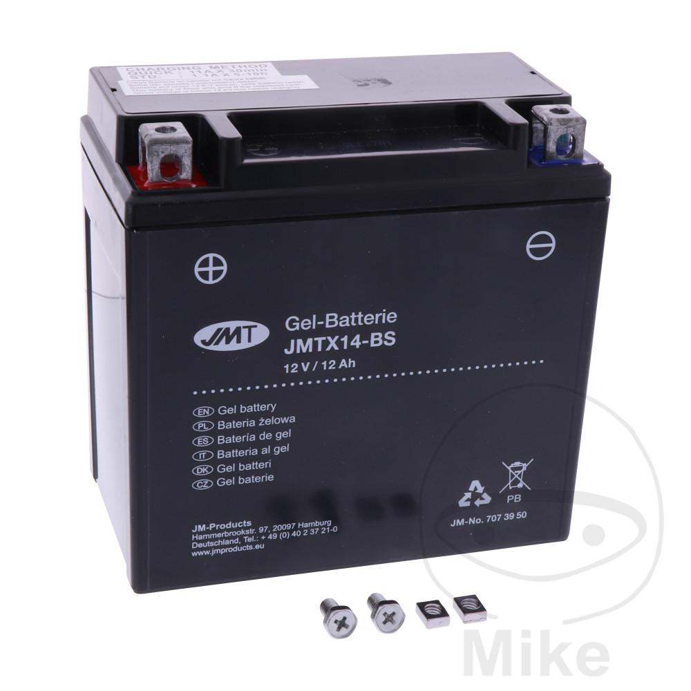 battery motorcycle ytx14 bs gel jmt filled charged. Black Bedroom Furniture Sets. Home Design Ideas