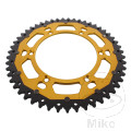 REAR SPROCKET DUAL 51 TOOTH PITCH 520 GOLD ZF INNER DIAMETER 136 BOLT SPACING 156