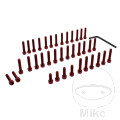 JMP ENGINE BOLT SET ALUMINIUM RED