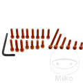 ENGINE BOLT SET JMP PROBOLT ALU ORANGE