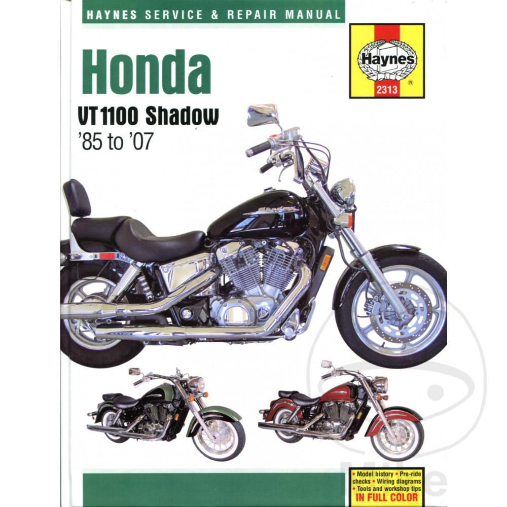 HAYNES REPAIR MANUAL HONDA VT1100 SHADOW 1985 - 2007
