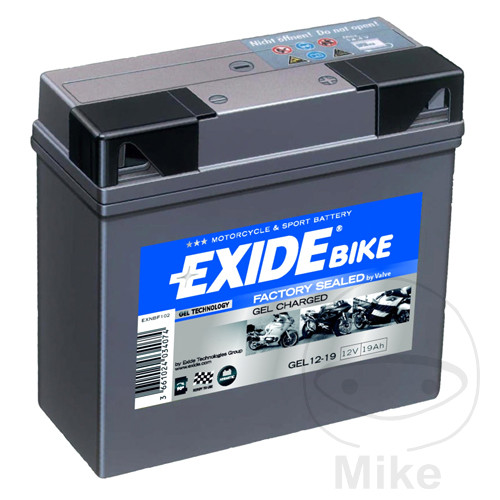 batterie motorrad gel 12 19 exide yuasa 1938 gel 4644. Black Bedroom Furniture Sets. Home Design Ideas