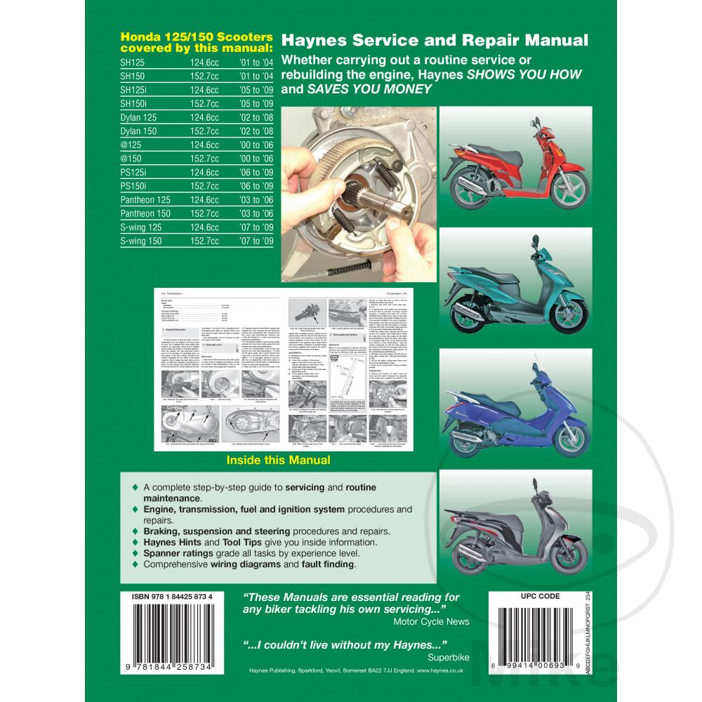 Sentinel Scooter Haynes Service Repair Manual 4873