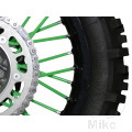 SPOKE COVER SET GREEN BLACK BIRD RACING