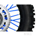 SPOKE COVER SET BLUE BLACK BIRD RACING