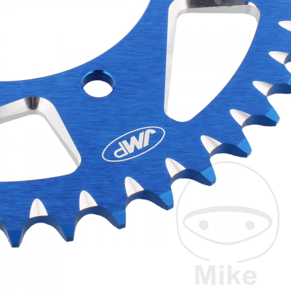 Motorcycle JMP Blue Aluminium Rear Sprocket (44 Teeth)