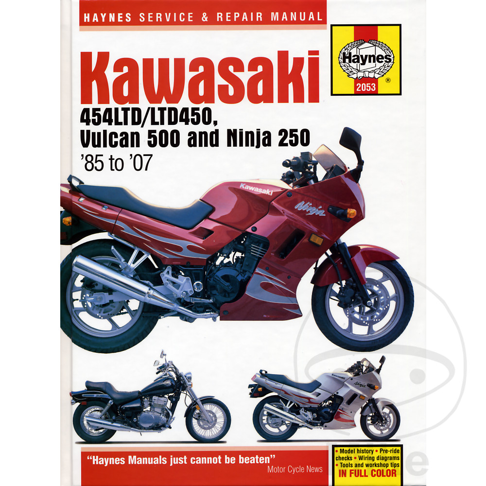 81 1986 Kawasaki 454 Ltd Specs Z450 1989 11 Caltric Wiring Diagram Haynes Repair Manual 450 Vulcun 500 Ninja 250 1987 305