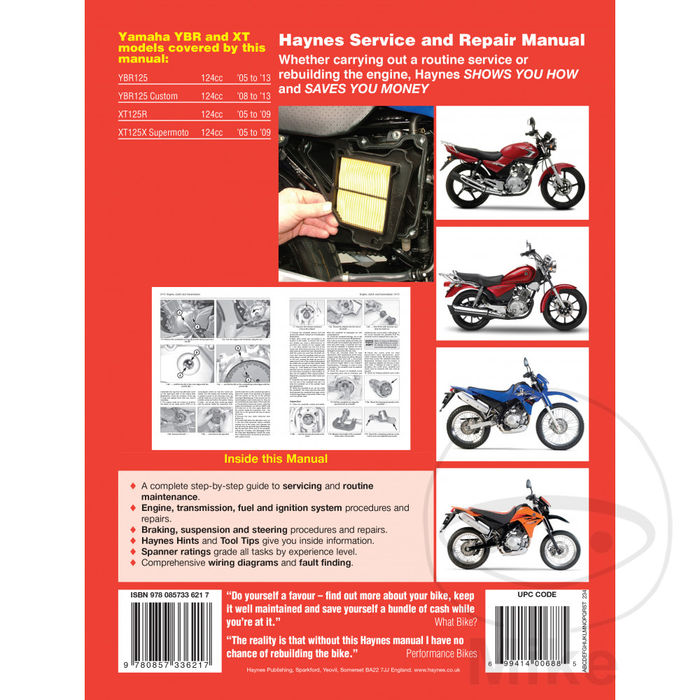 Yamaha ybr 125 spd custom 2008 2014 haynes service repair manual sentinel motorcycle haynes service repair manual 4797 solutioingenieria