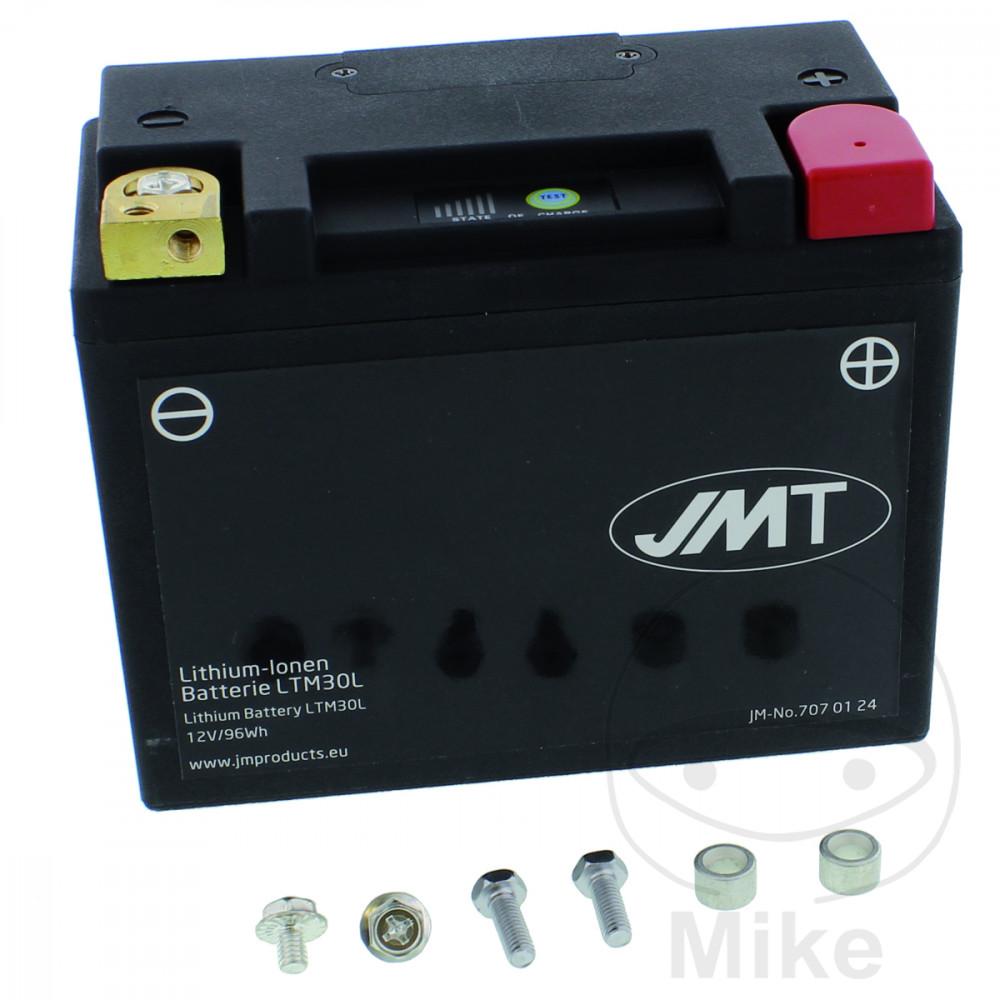 batterie motorrad ltm30l jmt lithium ionen mit anzeige. Black Bedroom Furniture Sets. Home Design Ideas