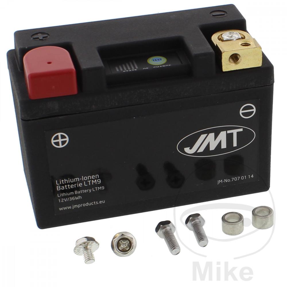 batterie motorrad ltm9 jmt lithium ionen mit anzeige. Black Bedroom Furniture Sets. Home Design Ideas