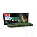 RK X-RING CHAIN GREEN 525XSO/108 OPEN CHAIN WITH RIVET LINK