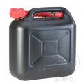 BLACK PLASTIC 10L FUEL CAN FOR DIESEL & PETROL