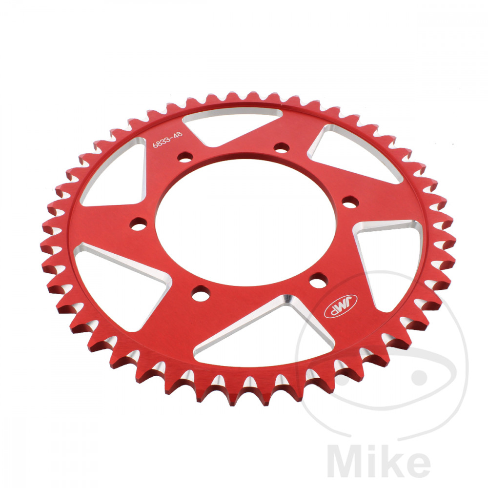 Motorcycle JMP Red Aluminium Rear Sprocket (48 Teeth)